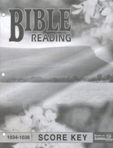 Bible Reading PACE SCORE Key 1034-1036, Grade 3