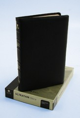 HCSB UltraThin Bible, Black Calfskin Genuine Leather