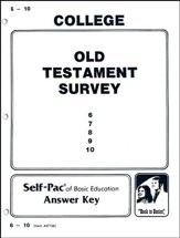 Old Testament Survey Self-Pac Key  6-10
