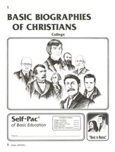 Biographies Of Christians Self-Pac 1, Grades 9-12