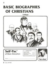 Biographies Of Christians Self-Pac 2, Grades 9-12
