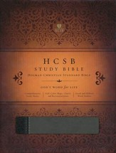 HCSB Study Bible, Black/Gray Simulated Leather, Thumb-Indexed