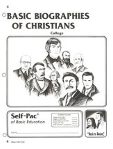 Biographies Of Christians Self-Pac 4, Grades 9-12