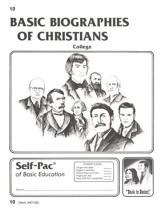 Biographies Of Christians Self-Pac 10, Grades 9-12