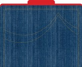 Denim File Folders