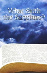 What Saith The Scriptures, Pack of 12