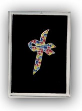 Autism Awareness Cross Pin