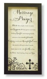 Marriage Prayer--Wall Plaque