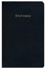 KJV Cambridge Concord Reference Bible--calf-split leather, black