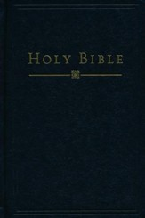 HCSB Pew/Church Bible, Hardcover, Black