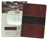 NKJV Large Print UltraThin Reference Bible, Mahogany imitation leather, indexed