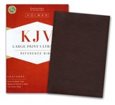 KJV Large Print UltraThin Reference Bible--soft leather-look, chocolate brown (indexed)