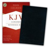KJV UltraThin Reference Bible, Black Bonded Leather