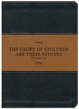 KJV Study Bible, Father's Edition--soft leather-look, black & tan - Slightly Imperfect