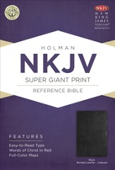 NKJV Super Giant Print Reference Bible, Black Imitation Leather, Thumb-Indexed