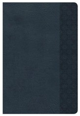 NKJV Large Print Personal Size Reference Bible, Slate Blue LeatherTouch