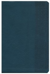 NKJV Giant Print Reference Bible, Slate Blue Imitation Leather