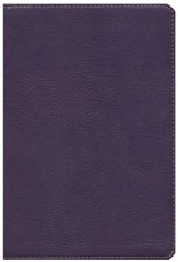 KJV Large Print UltraThin Reference Bible, Eggplant LeatherTouch