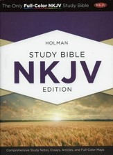 NKJV Holman Study Bible, Hardcover  - Slightly Imperfect