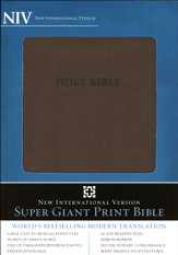 NIV Super Giant Print Bible, Italian Duo Tone Brown