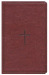 KJV UltraThin Reference Bible, Brown LeatherTouch, Thumb-Indexed