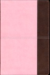 KJV UltraThin Reference Bible, Pink and Brown LeatherTouch, Thumb-Indexed