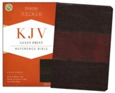 KJV Giant Print Reference Bible, Saddle Brown LeatherTouch