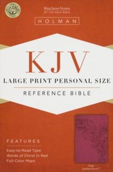 KJV Large Print Personal Size Reference Bible, Pink LeatherTouch - Slightly Imperfect