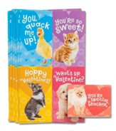 Baby Animals Valentine Cards, Box of 32