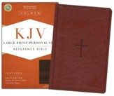 KJV Large Print Personal Size Reference Bible, Brown LeatherTouch - Slightly Imperfect