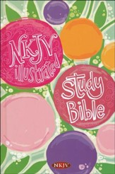 NKJV Illustrated Study Bible for Kids, Girls' Edition--hardcover