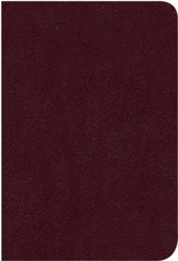NKJV Large Print Compact Reference Bible, Burgundy Bonded Leather