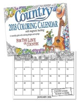 2018 Country Coloring Calendar