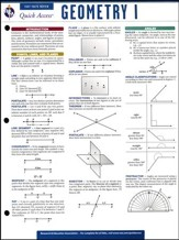 Geometry 1 - Quick Access Reference Chart