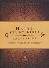 HCSB Study Bible, Large Print -  Hardcover