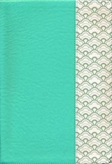 NKJV Super Giant-Print Reference Bible--soft leather-look, mint green (indexed)