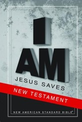NASB Jesus Saves New Testament - Slightly Imperfect