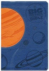 NKJV Big Picture Interactive Bible, Blue and Orange LeatherTouch