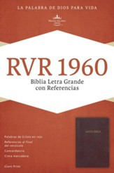 RVR 1960 Biblia Letra Grande con Referencias, borgoña imitación piel, RVR 1960 Giant Print Reference Bible, Burgundy Imitation Leather