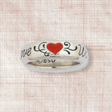 Love Waits Heart Ladies Ring, Size 6