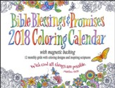 2018 Bible Blessings & Promises Coloring Calendar