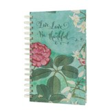 Live, Love, Be Thankful Botanical, Spiral Journal