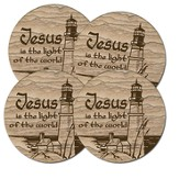 Jesus, Light Of the World Coasters, Box of 4