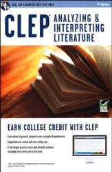 CLEP Analyzing & Interpreting Literature w/Online Practice Tests, 7th Edition