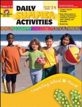 Daily Summer Activities, Moving from  Third to Fourth Grade