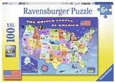 USA State Map Puzzle, 100 Pieces