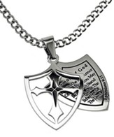 Armor of God Full Shield Cross Necklace