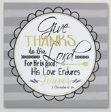 Give Thanks, Wooden Plaque