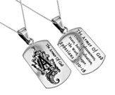Armor of God Girls Dog Tag, 18 Chain (Ephesians 6:11)