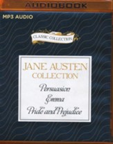 Jane Austen - Collection: Persuasion, Emma, Pride and Prejudice - unabridged audio book on MP3-CD